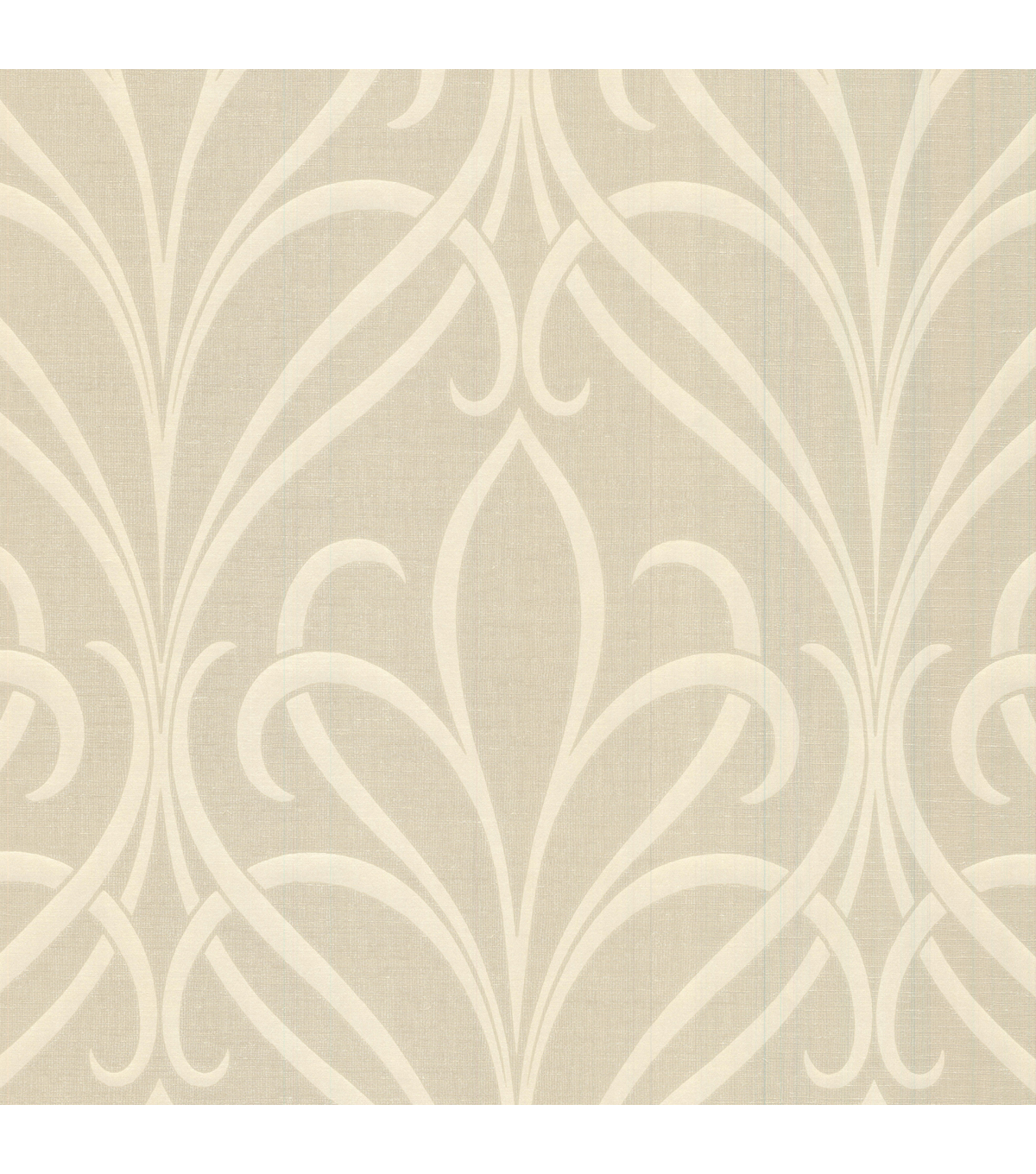 Lalique Gold Nouveau Damask Wallpaper Sample