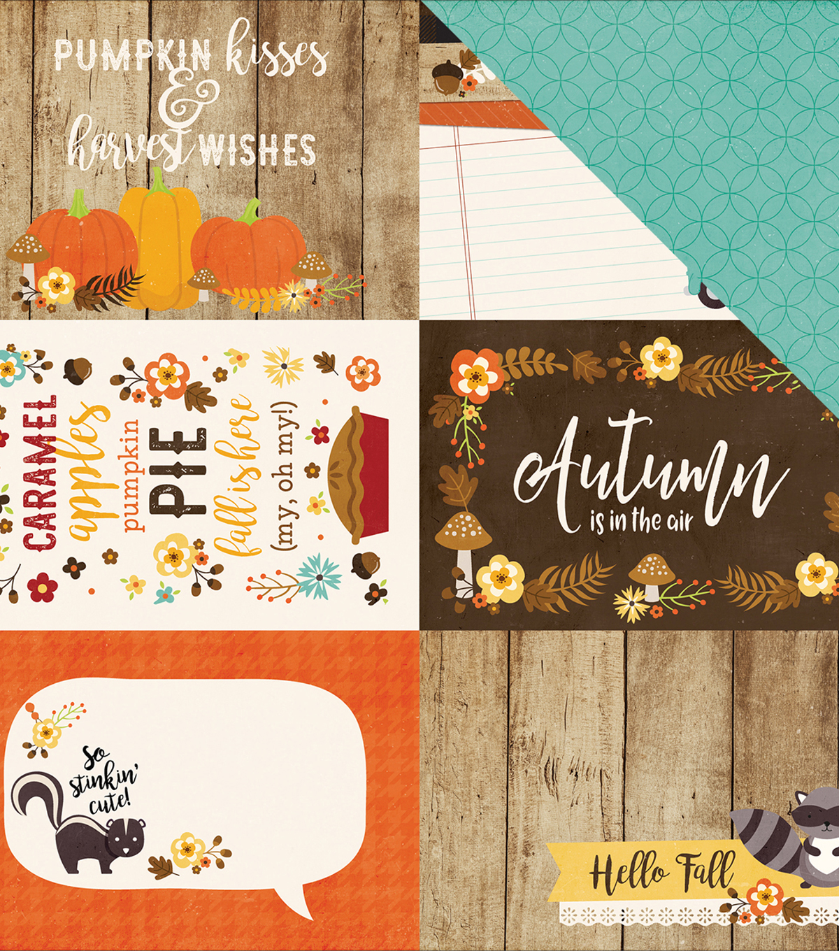 "A Perfect Autumn Double-Sided Cardstock 4""X6"" Journaling Cards"