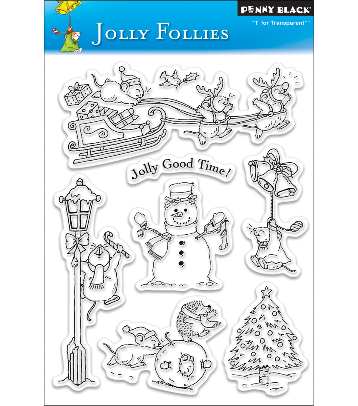 Penny Black Clear Stamp 5\u0022X7.5\u0022 Sheet-Jolly Follies