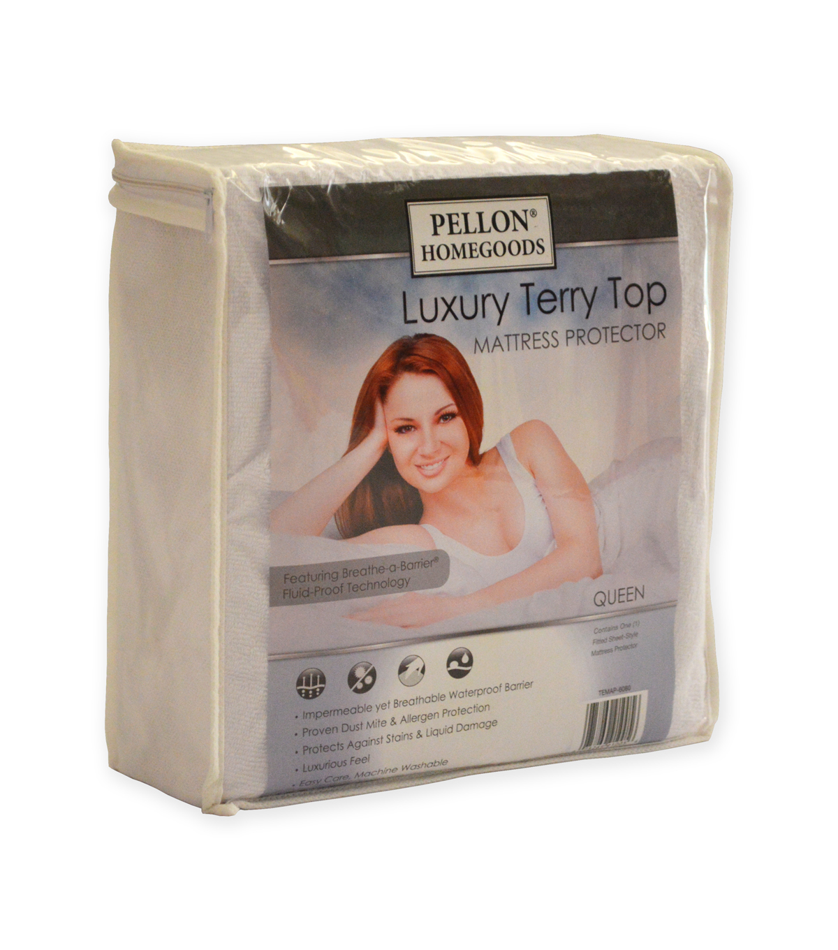 Pellon® Luxury Terry Top Mattress Protector Queen 60\u0022 X 80\u0022