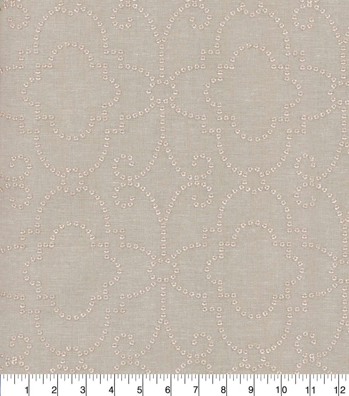 Dena Home Embroidered Upholstery Fabric 54\u0027\u0027-Rose Gold Wow Factor