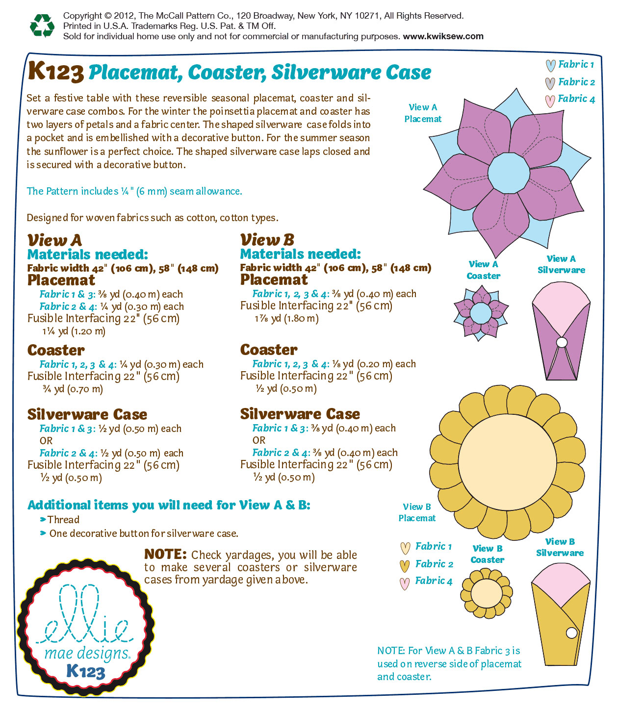 Kwik Sew Crafts Home Accessory-K0123