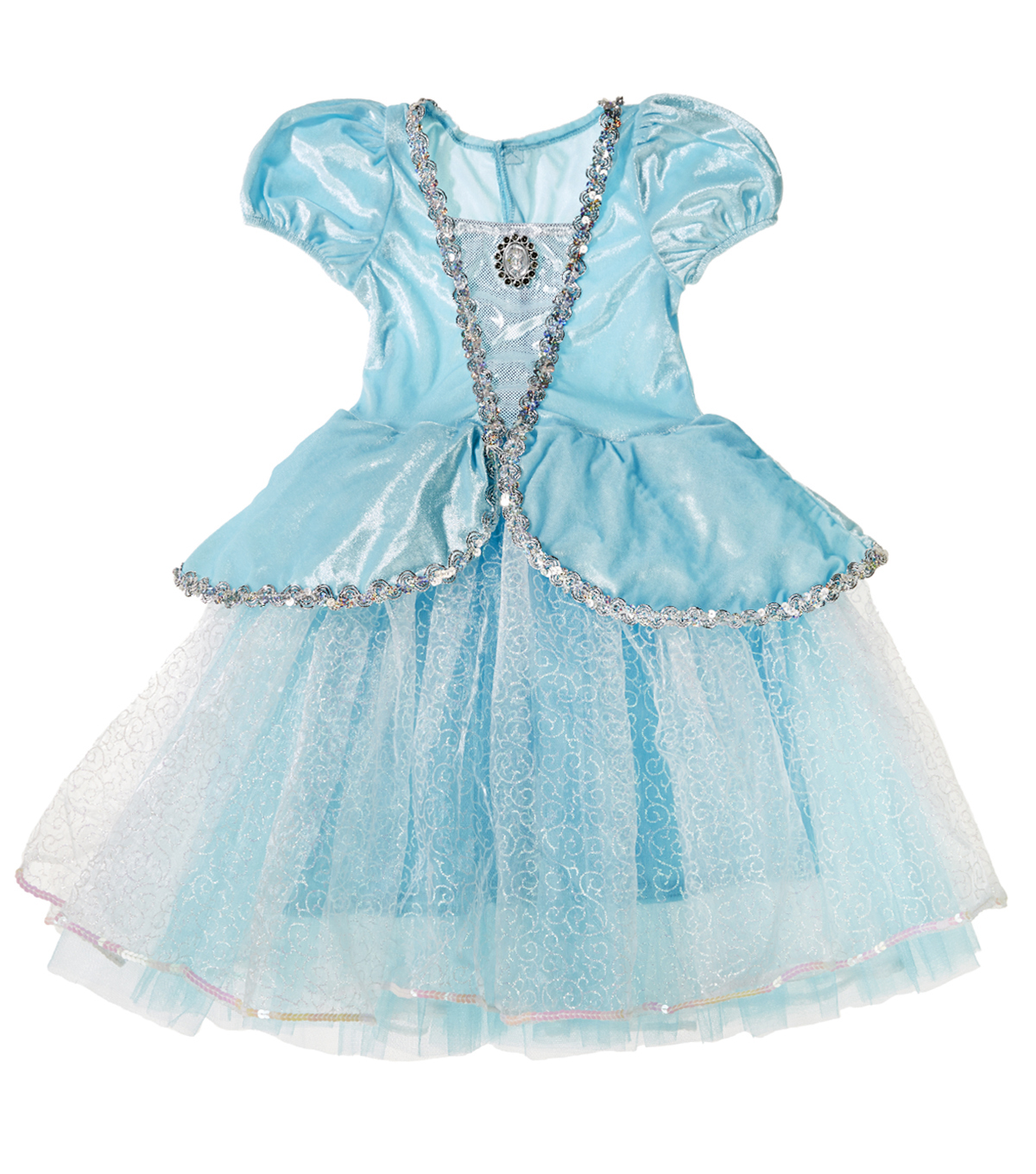 Fashion & Fluff™ Blue Silver Princess Dress