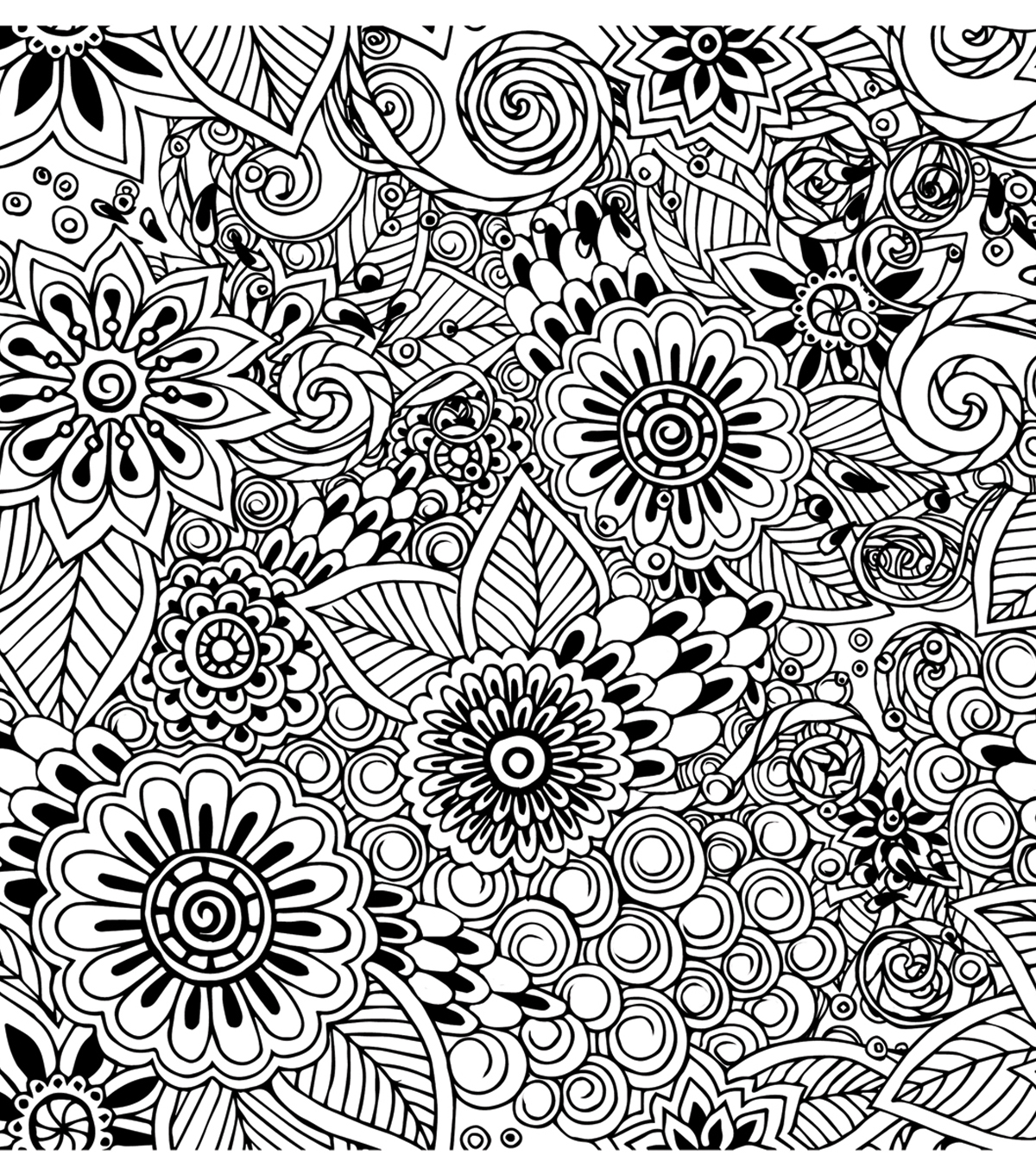 Adult Coloring Canvas 12\u0022X12\u0022 w/12 Markers-Floral