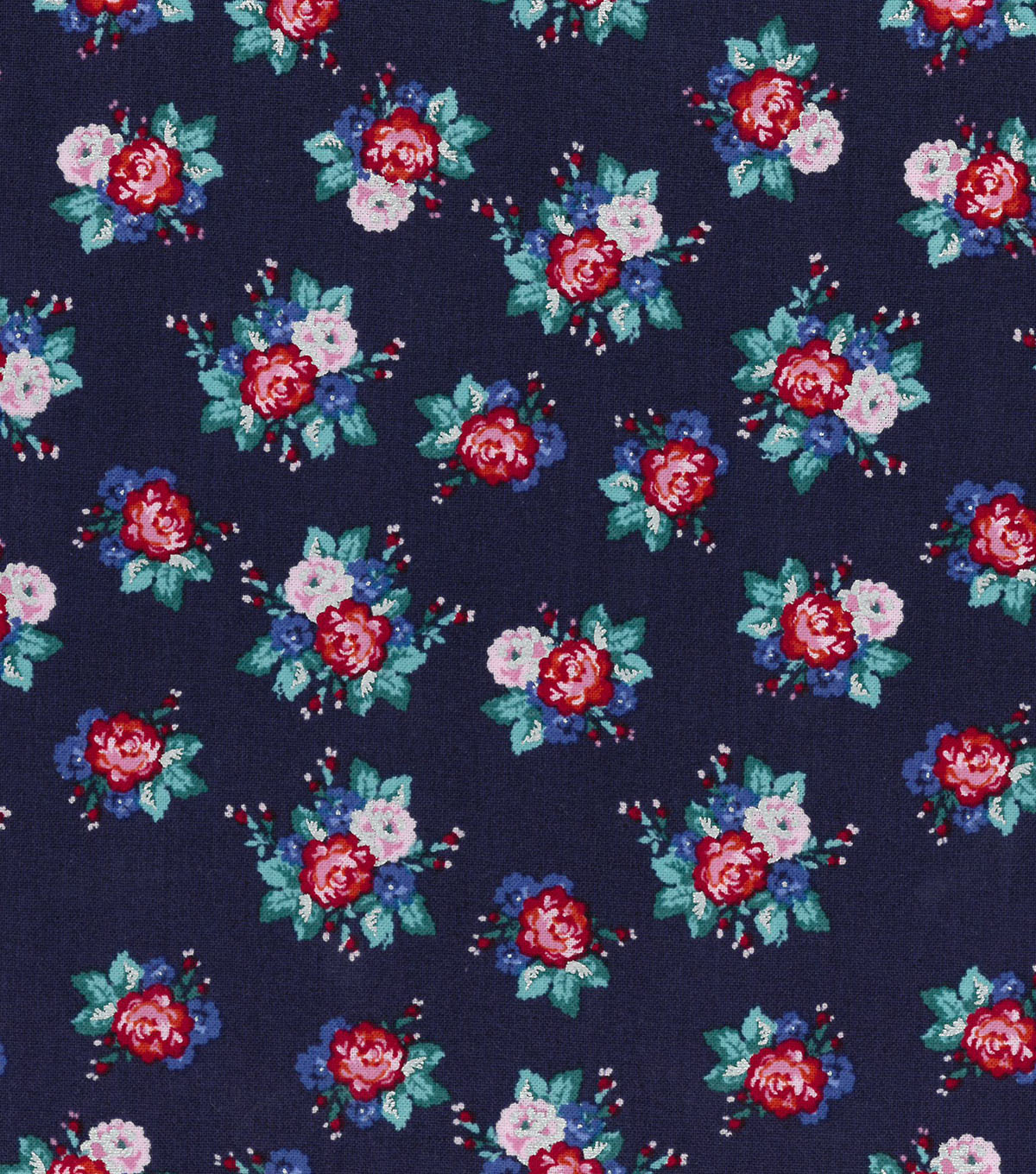 Buttercream™ Poppy Cotton Fabric-Ditsy Floral Navy
