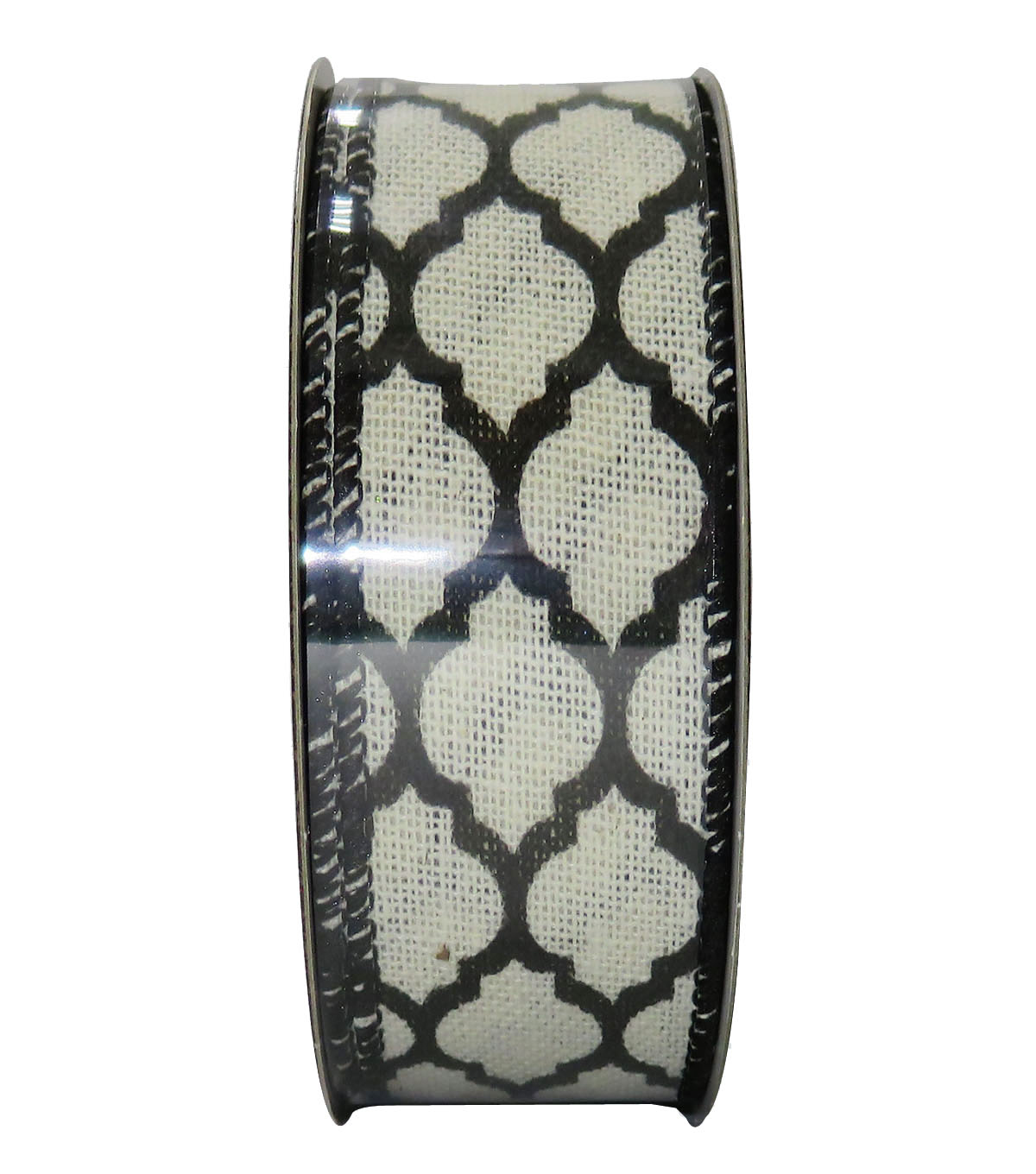 Decorative Ribbon 1.5\u0027\u0027 X 15\u0027-Black Geo On Cream