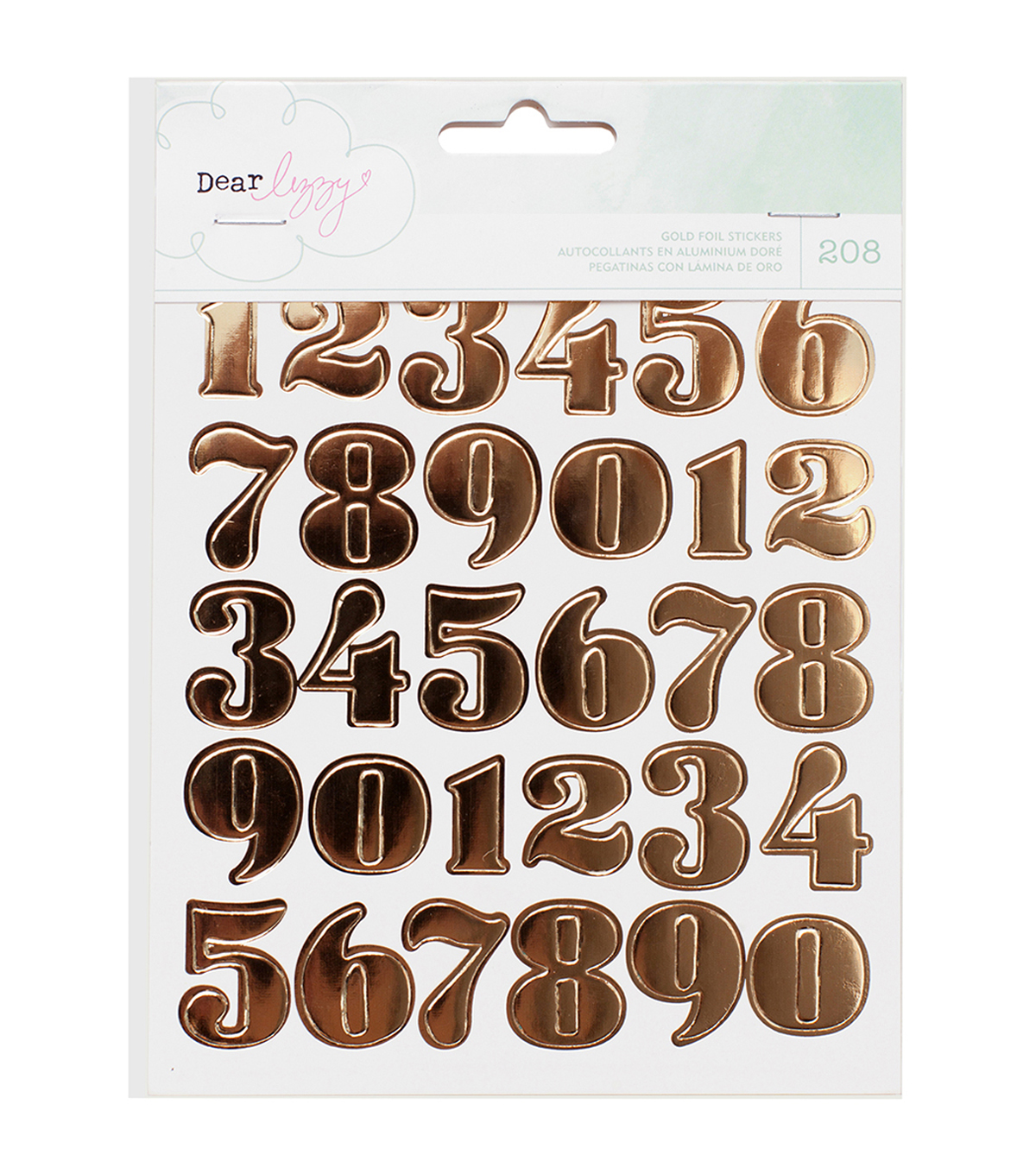 American Crafts Dear Lizzy Numbers, Hearts & Circles Sticker Book