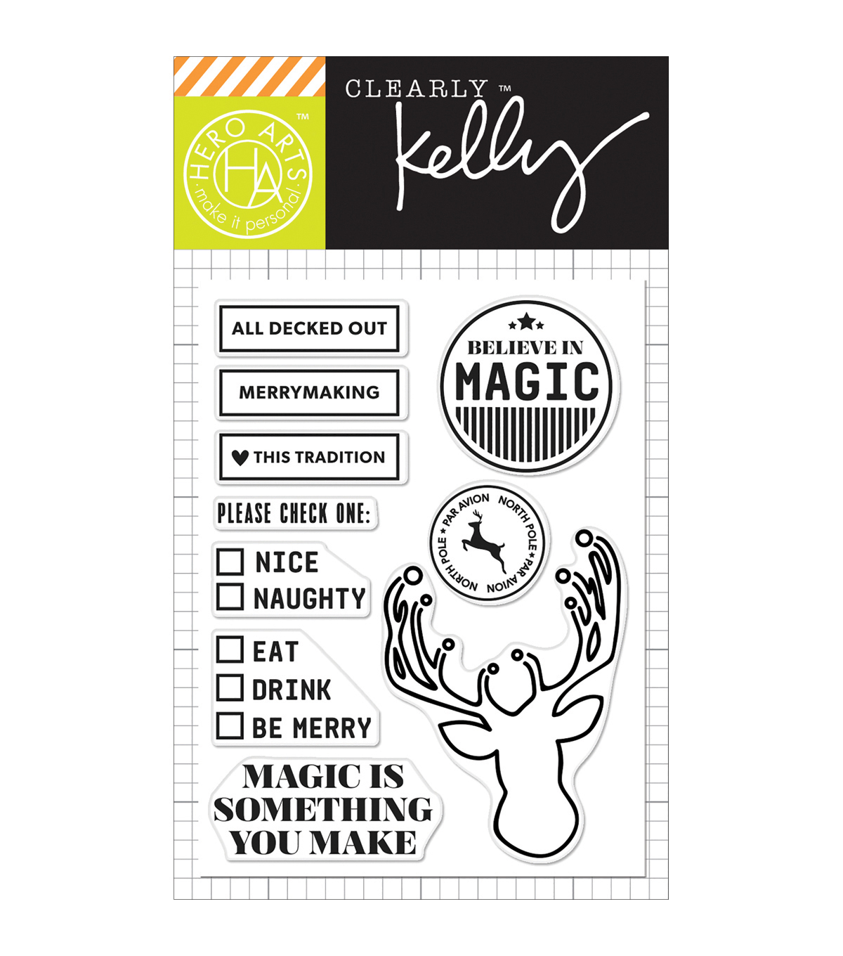 Hero Arts® Kelly Purkey Clear Stamps-All Decked Out