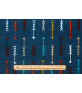 Anti-Pill Fleece Fabric 59\u0022-Bear Lodge Arrows Navy
