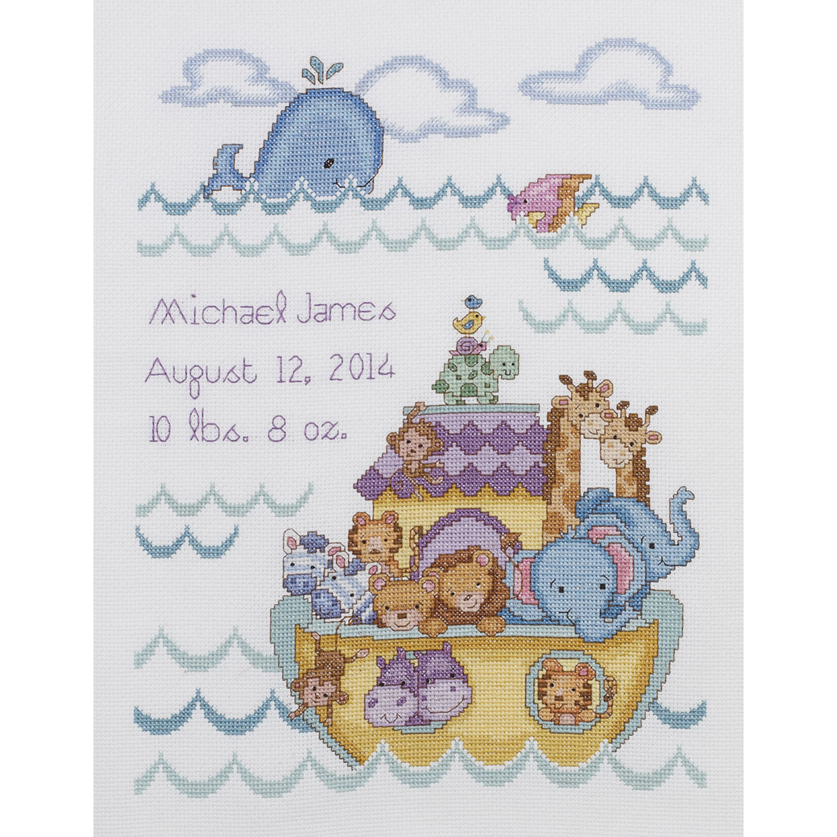 Noah S Ark Birth Record Counted Cross Stitch Kit 10 Quot X13