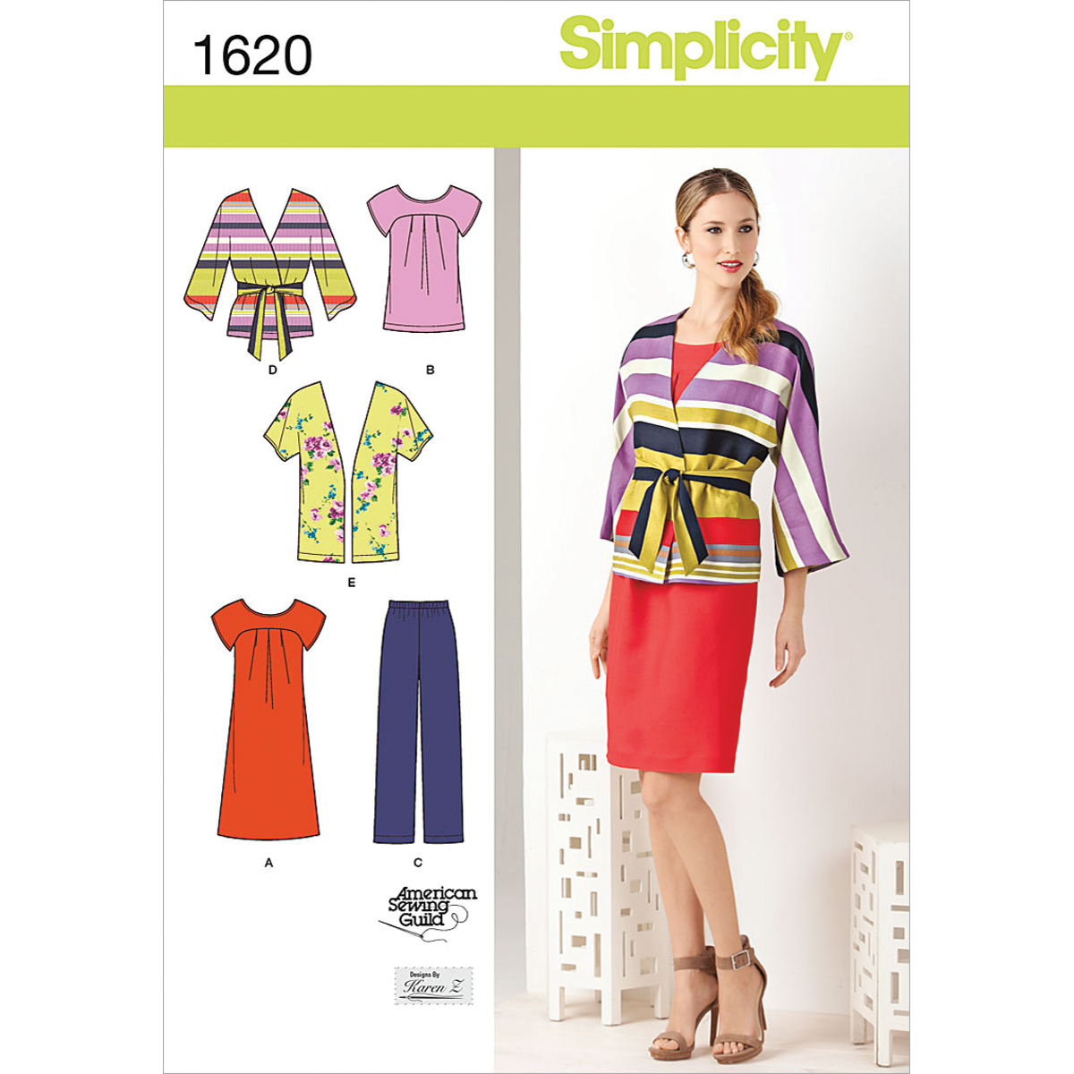 Simplicity Pattern 1620BB 20W-28W -Simplicity Misses Sp