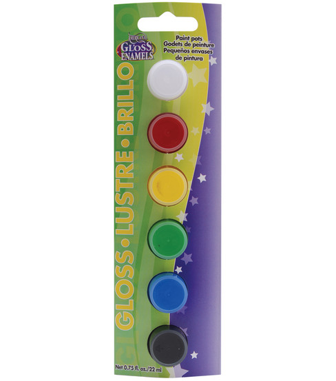 DecoArt Paint Pots-6PK/Gloss