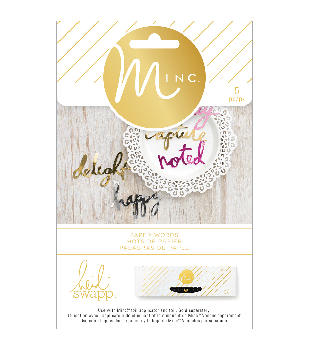 Heidi Swapp Minc Die-Cut Words 5/Pkg