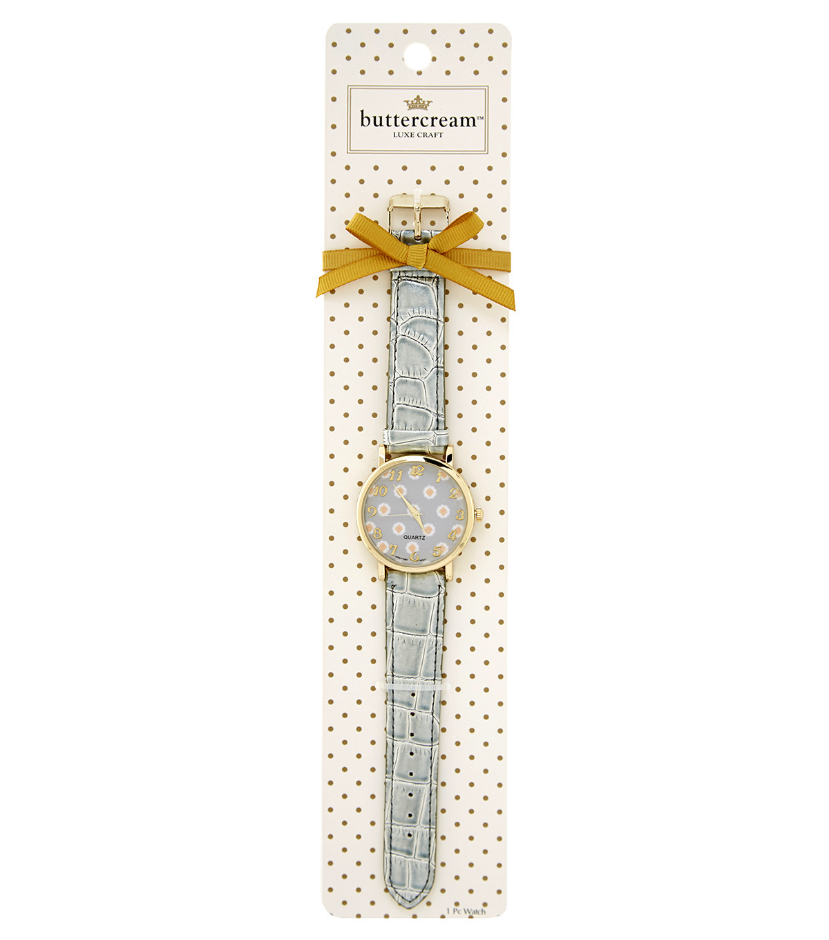 Buttercream™ Audrey Collection Grey Crocco Print Watch