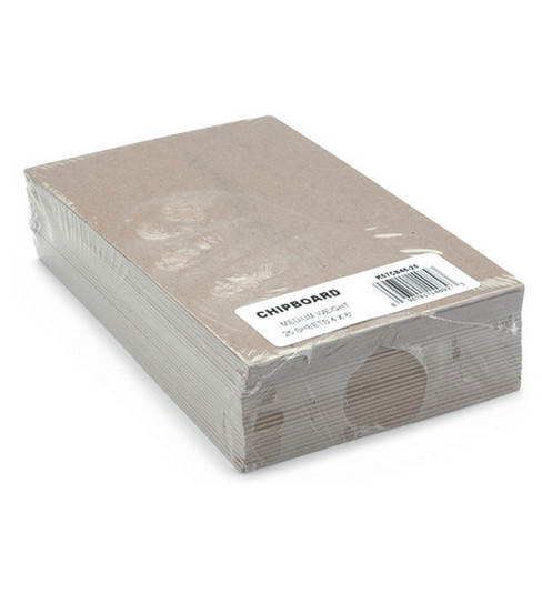 Grafix 4\u0022x6\u0022 Medium Weight Chipboard Sheets-25PK/Natural