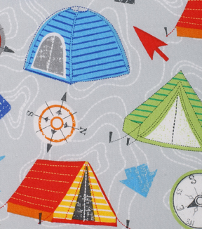 Novelty Cotton Fabric 43\u0022-Directional Camping