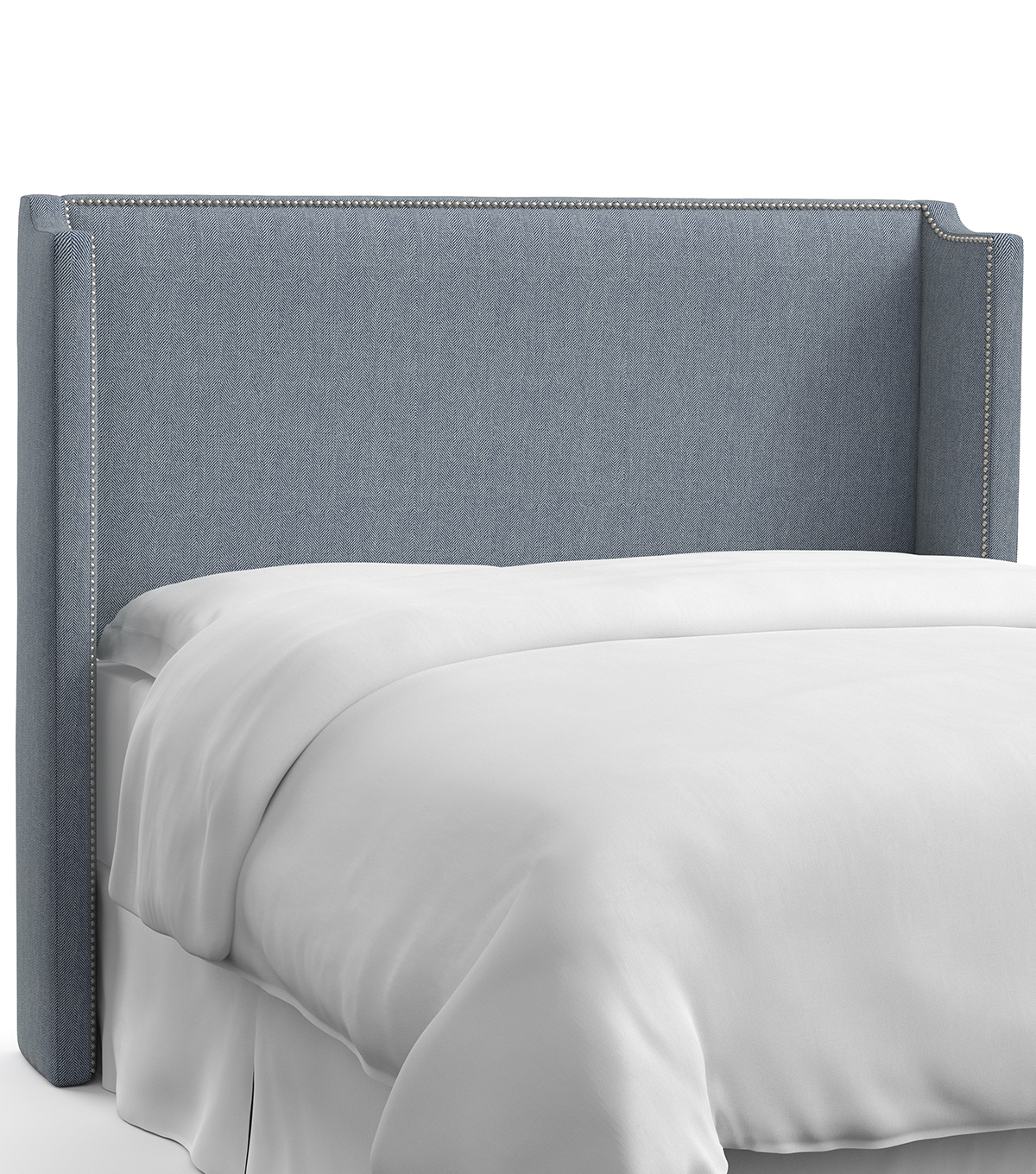 Skyline Furniture Nail Button Wingback Headboard-King