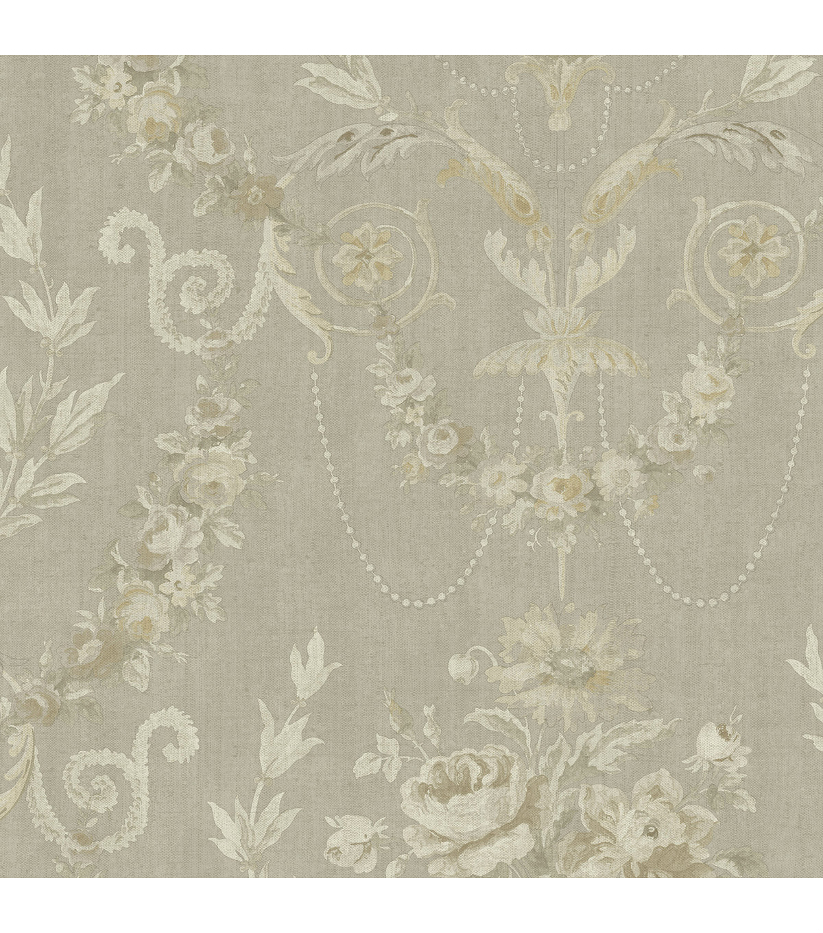 Grey Rose Urn Wallpaper Sample