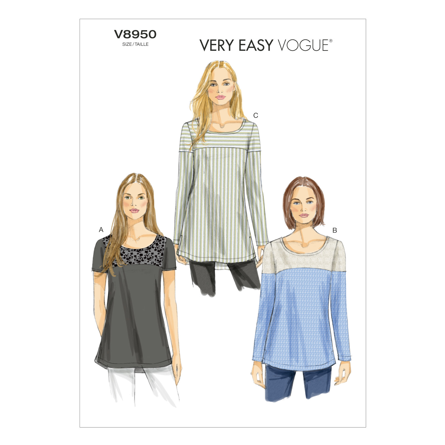 Vogue Patterns Misses Top-V8950