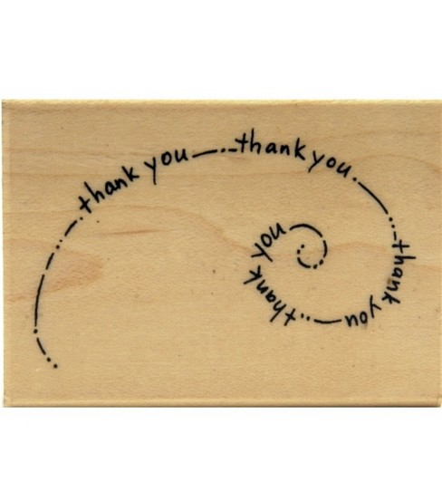 Stampendous Rubber Stamp-Thank you Swirl