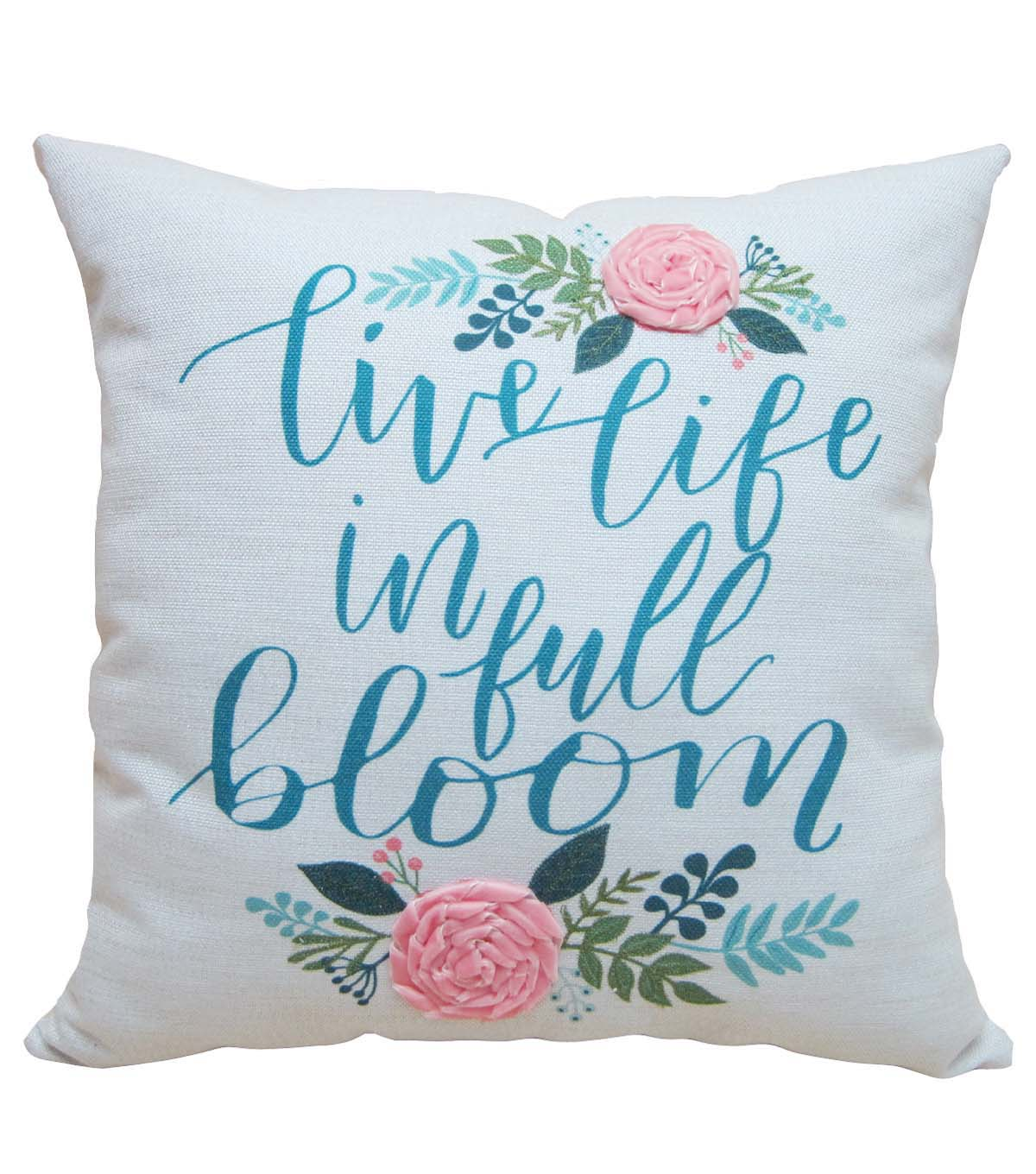 Hello Spring 3D Floral Pillow-Live Life in Full Bloom