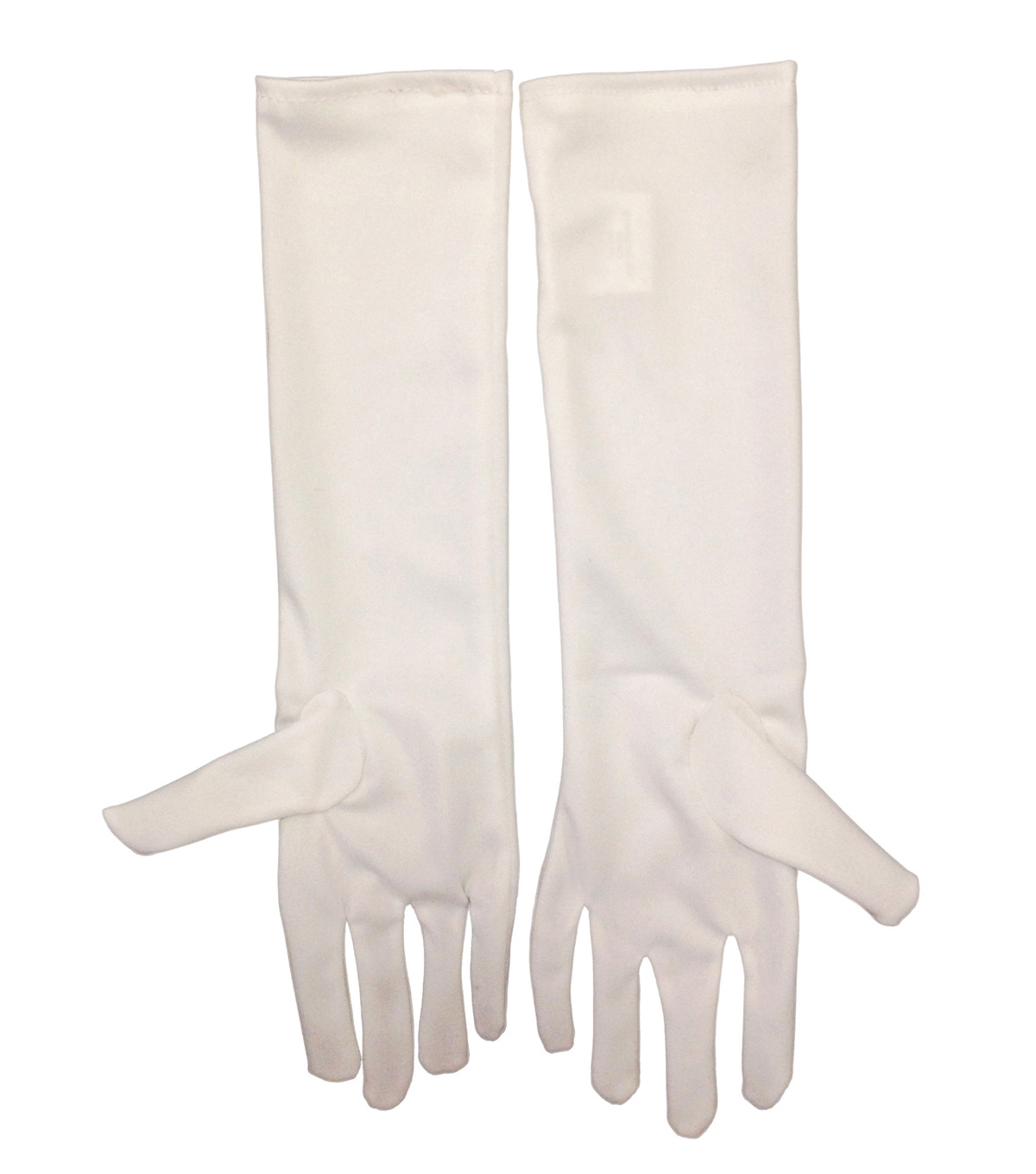 Maker's Halloween Long Children's Gloves-White