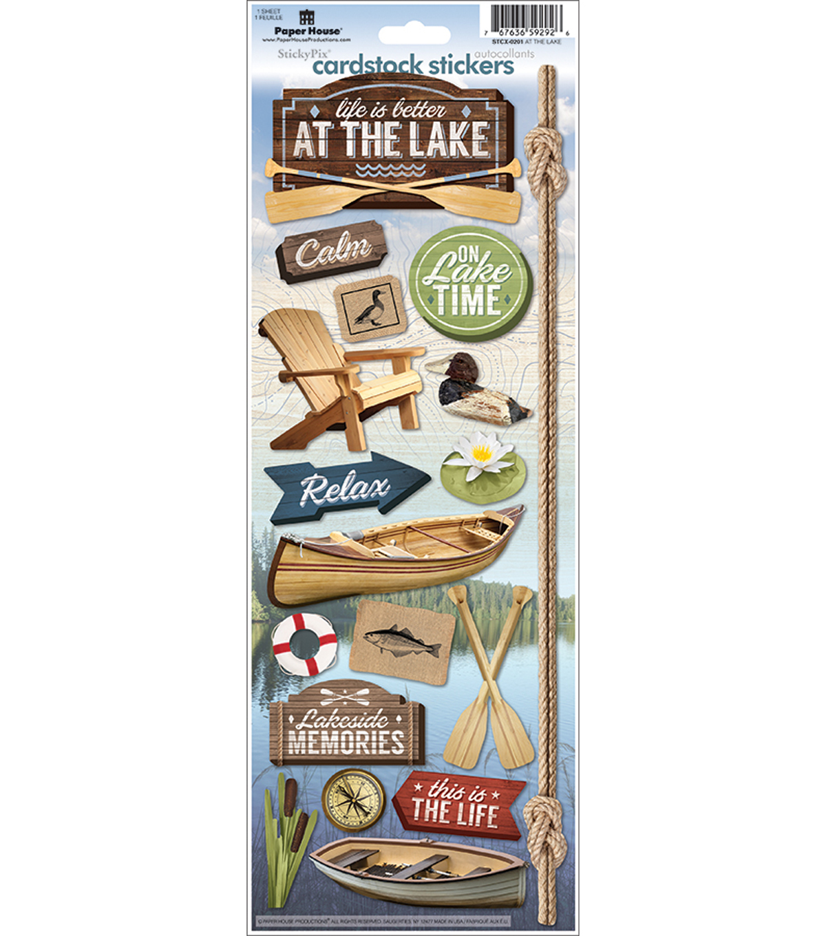 Paper House Cardstock Stickers 4.6\u0022X13\u0022-At The Lake