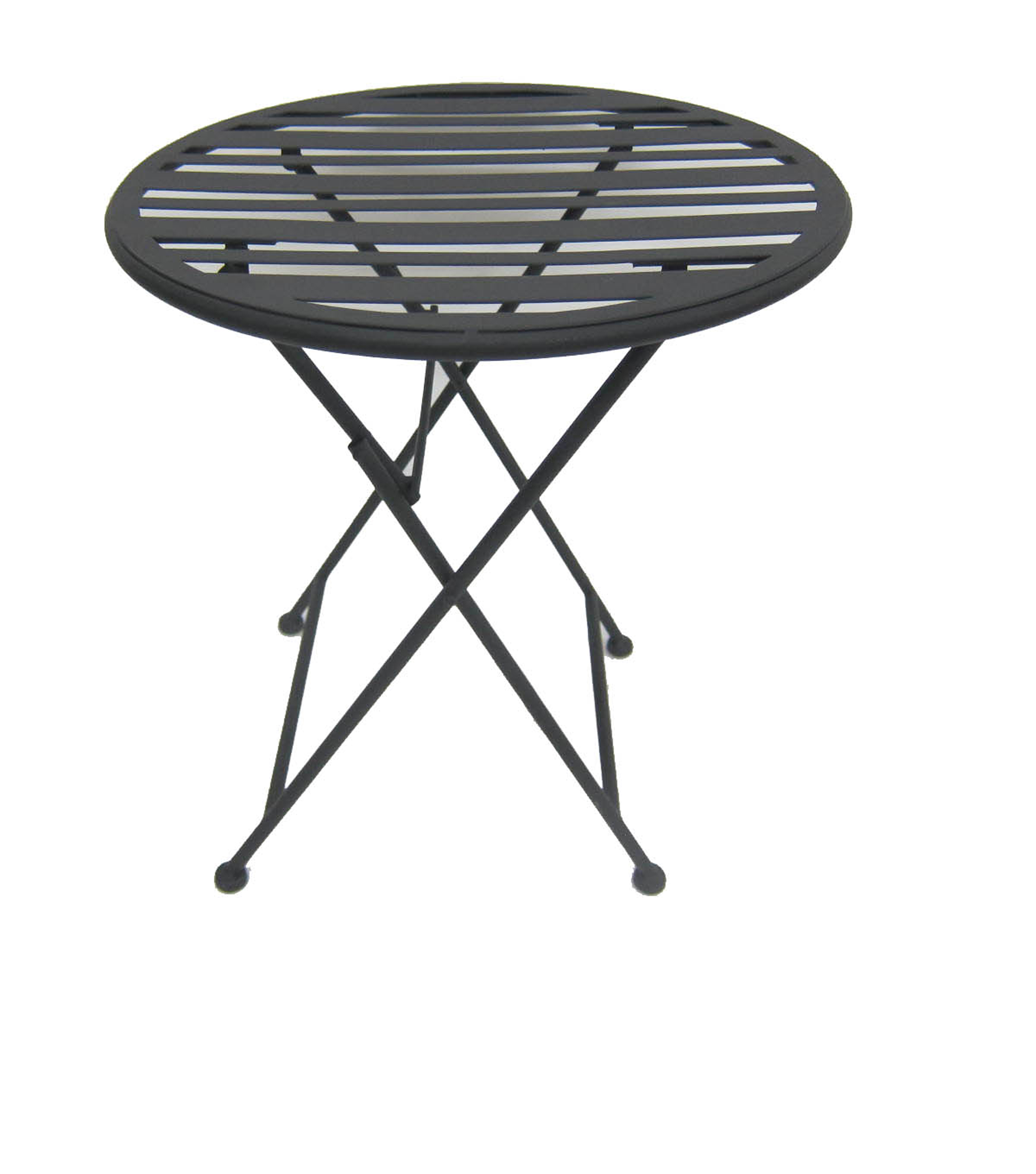 Summer Sol Metal Collapsible Table-Black