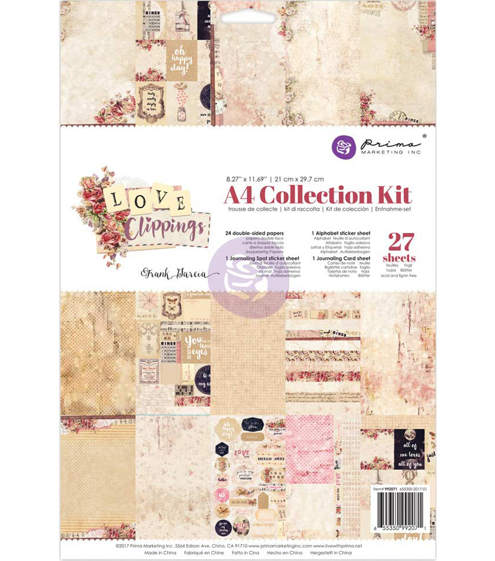 Prima Marketing Collection Kit A4-Frank Garcia Love Clippings