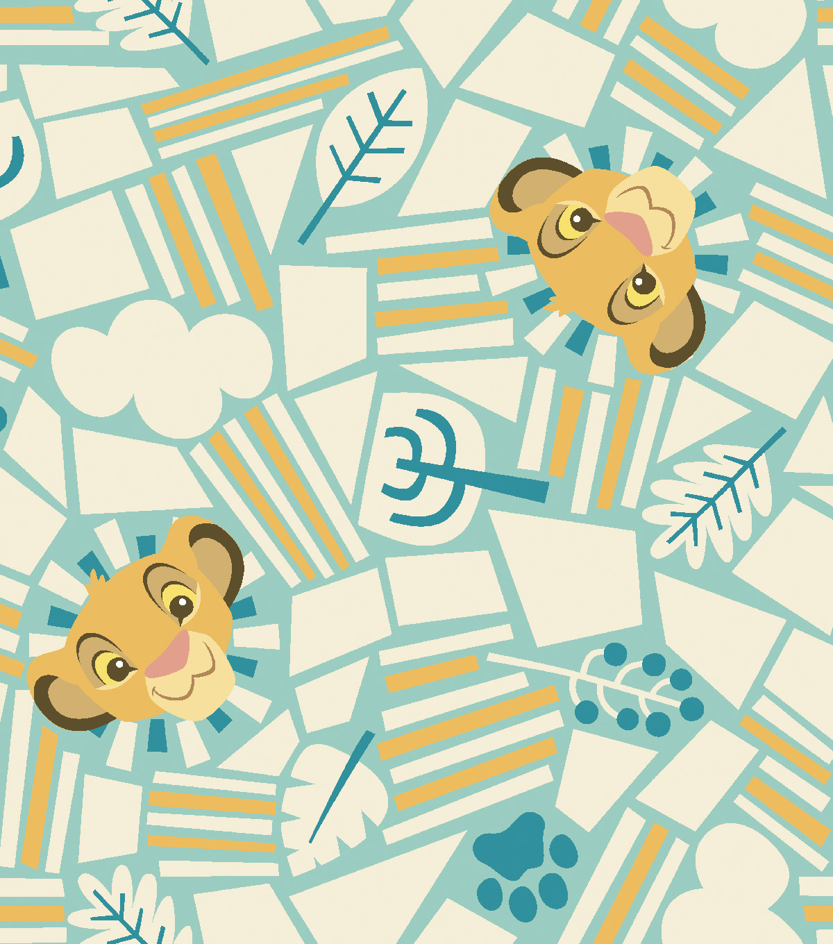 "Lion King Fleece Fabric 59""-Born To Rule"