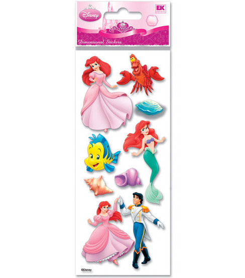 A Touch Of Jolee\u0027s Disney Dimensional Stickers-Little Mermaid