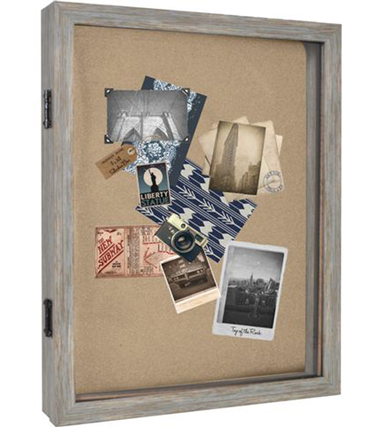 Shadowbox Frame 11X14-Distressed Blue Molding