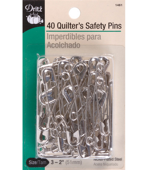 Prym Dritz Quilter\u0027s Safety Pins Nickel