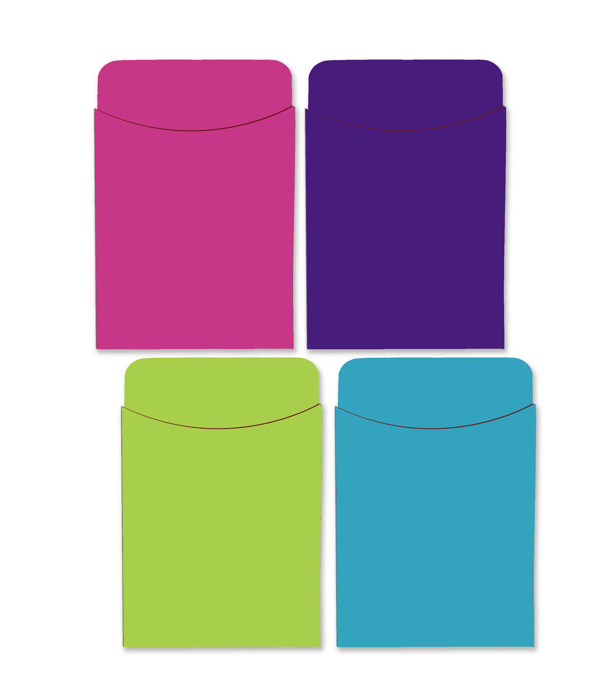 Busy Kids Learning Paper Pockets-Solid Bright Colors