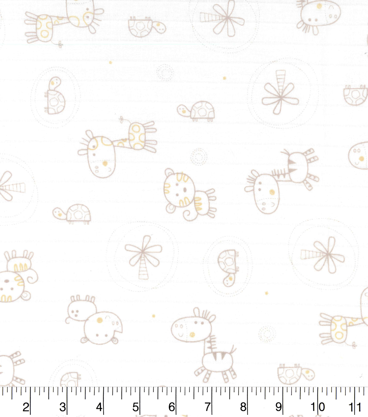 Nursery Fabric- Jungle Animals Swaddle Cloth