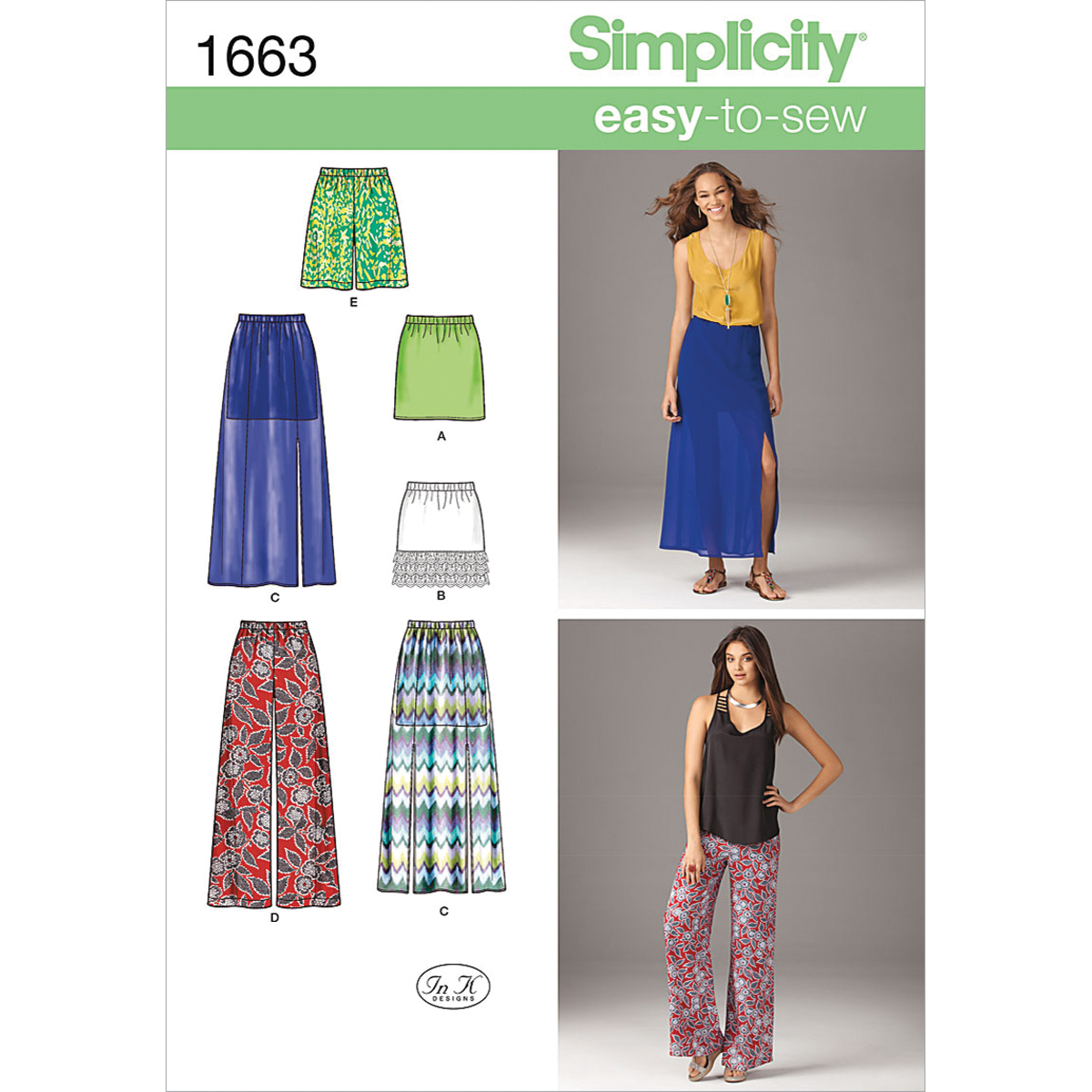 Simplicity Pattern 1663P5 12-14-16-1-Simplicity Misses Sk
