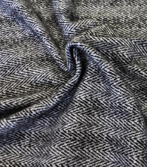 Fashion Brushed Knit Fabric 58\u0022-Herringbone Stripe