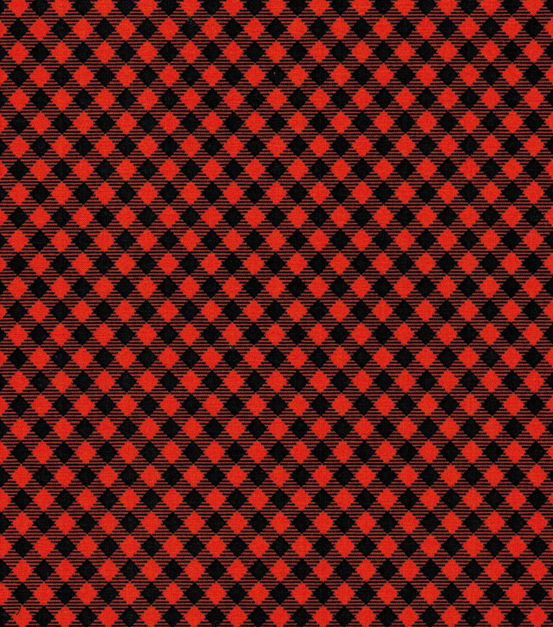 Holiday Showcase™ Halloween Cotton Fabric 43''-Black & Orange Haunting Checkers