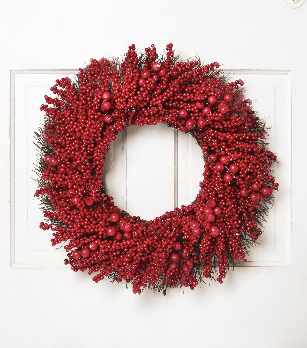 Blooming Holiday 24'' Berry on Grapevine Wreath