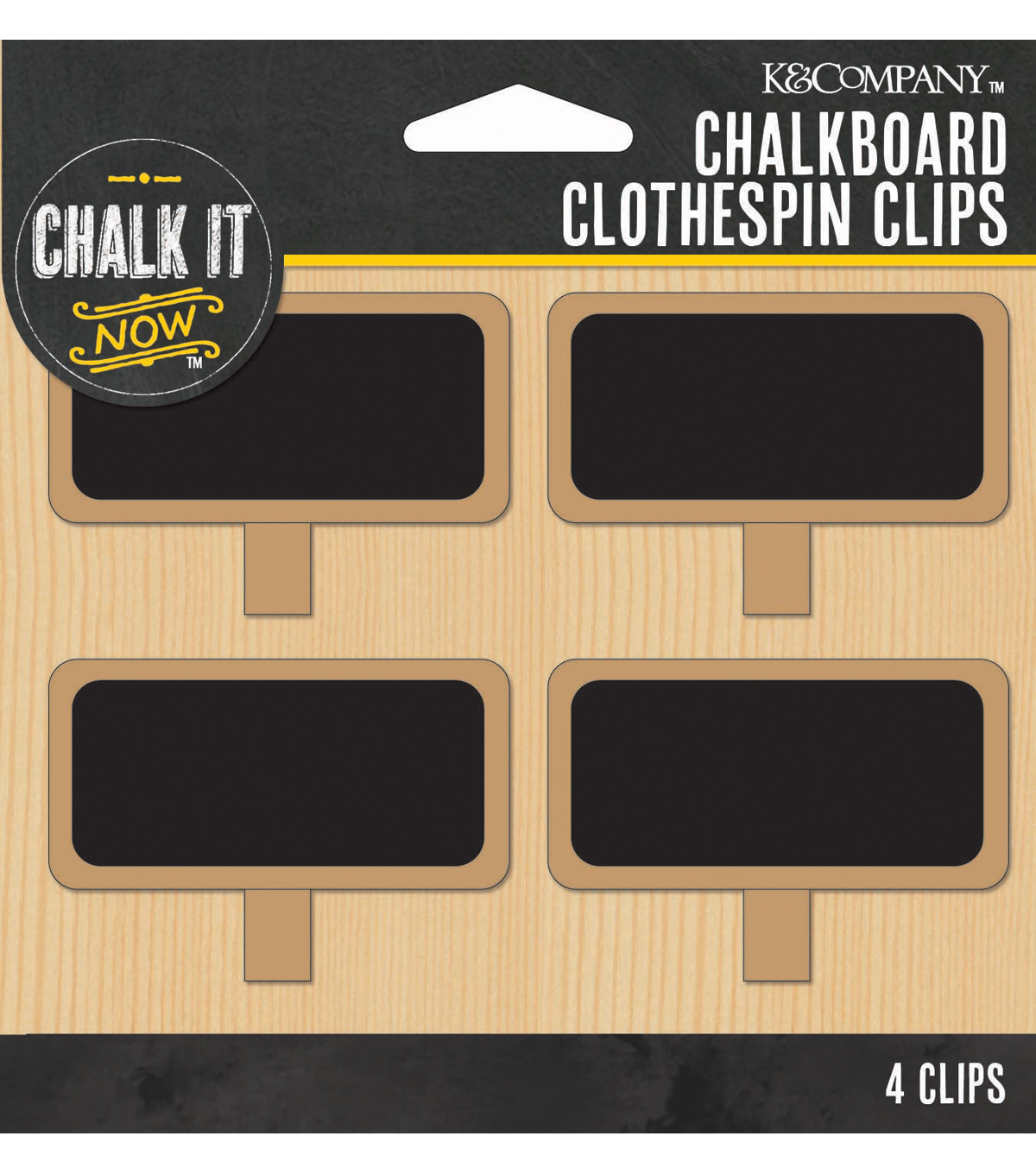 Chalkboard Clothespin Tags Eo