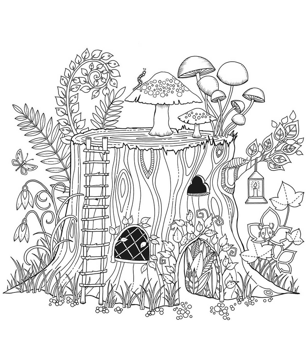 Chronicle Books Enchanted Forest Coloring Book