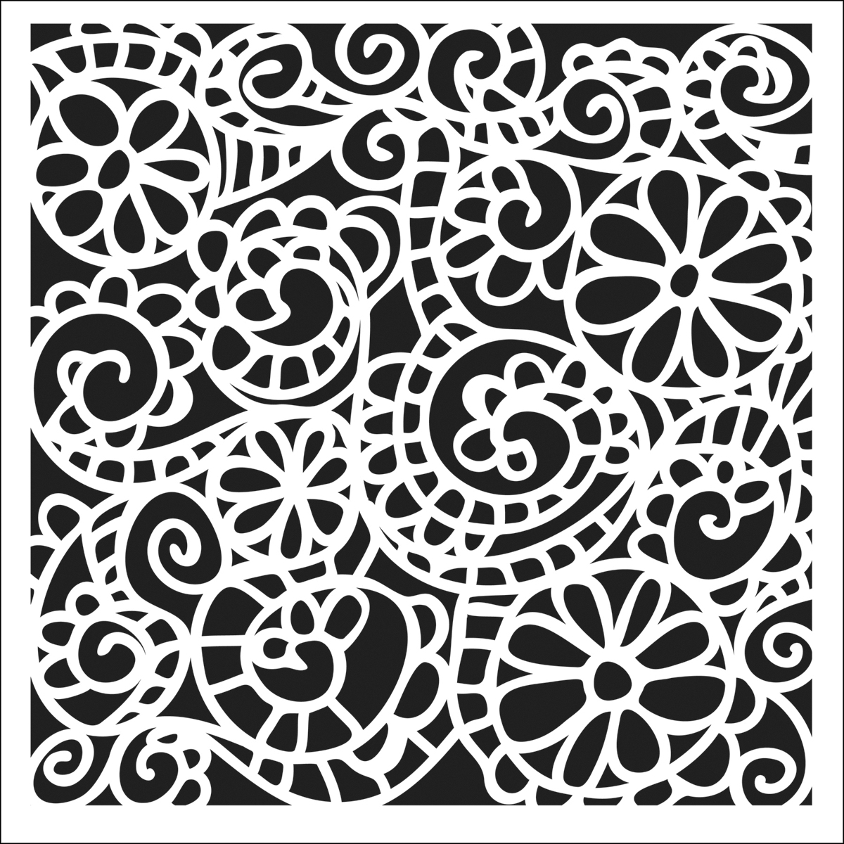 Crafter\u0027s Workshop Templates Swirly Garden 12\u0022 x 12\u0022