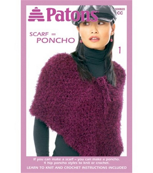 Patons Scarf = Poncho
