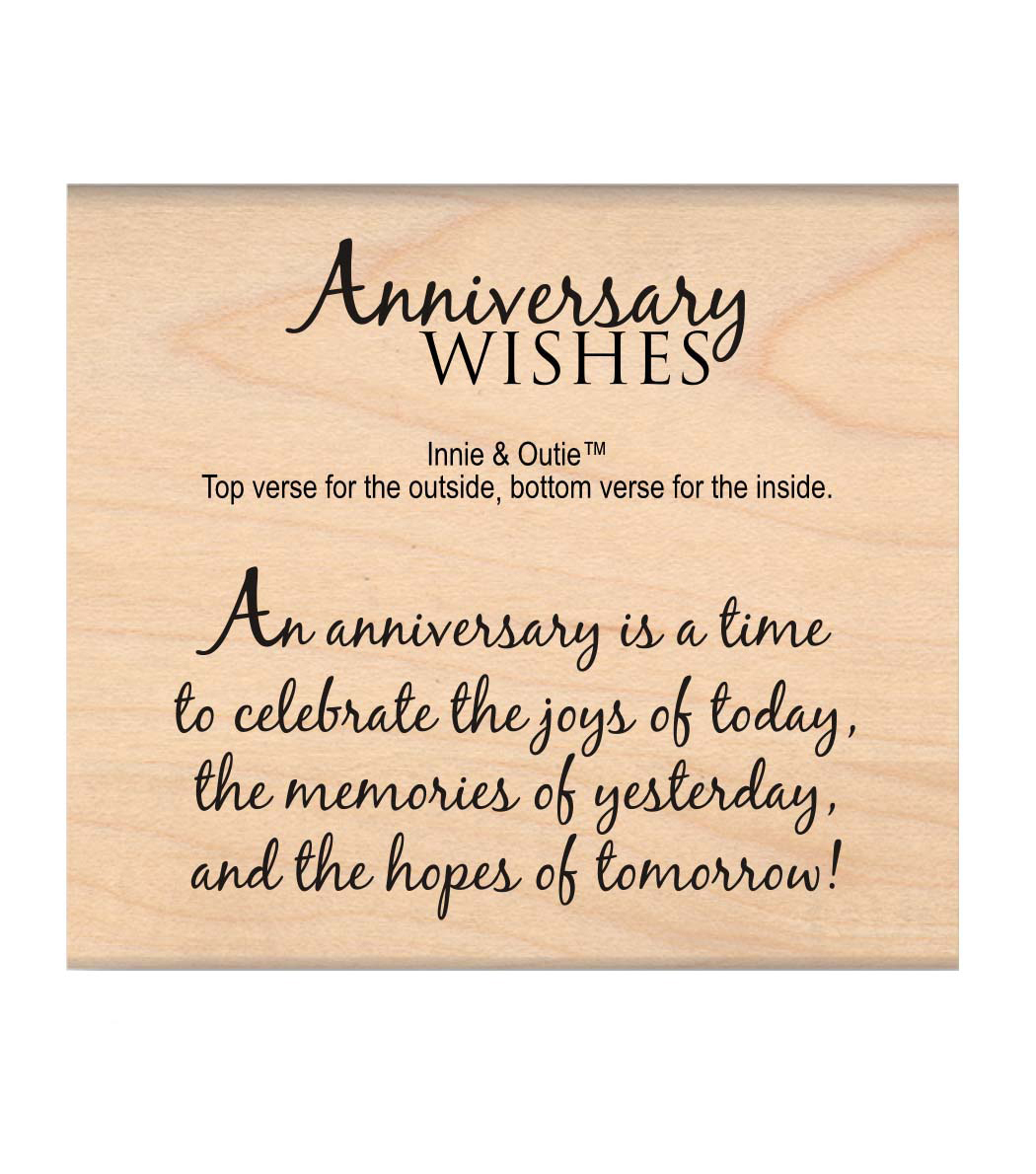 MSE My Sentiments Exactly Anniversary Wishes Mounted Stamp 2.5\u0027\u0027x3\u0027\u0027