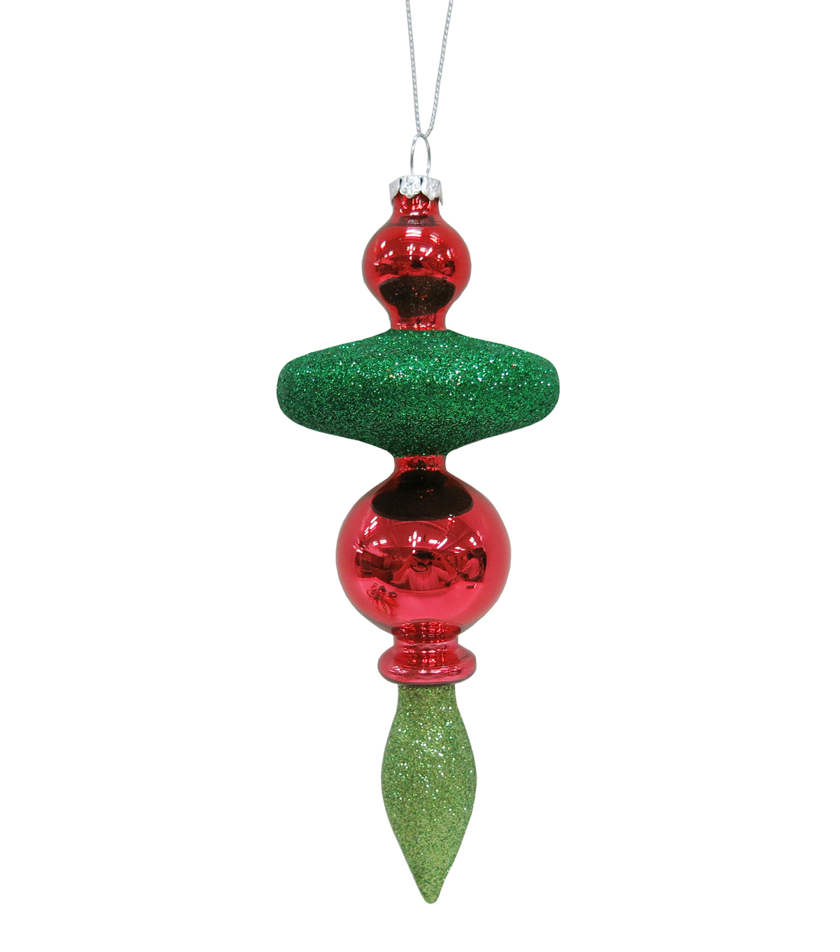 Maker\u0027s Holiday Whimsy Workshop Tiered Drop Ornament-Green & Red