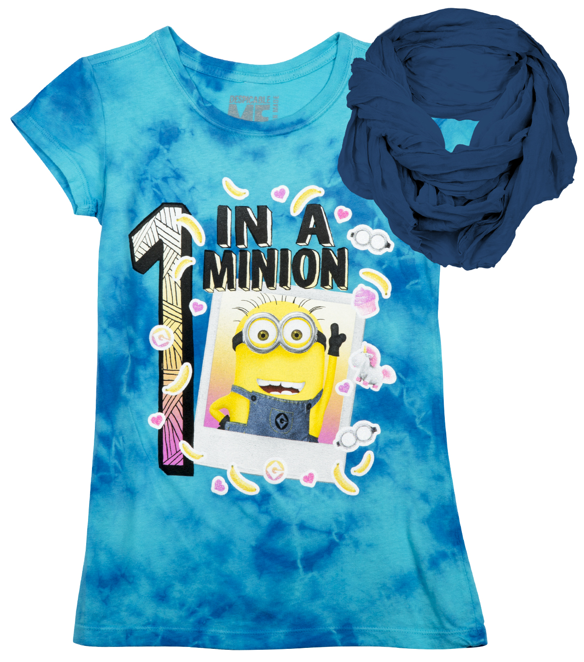 One in a Minion Shirt with Scarf