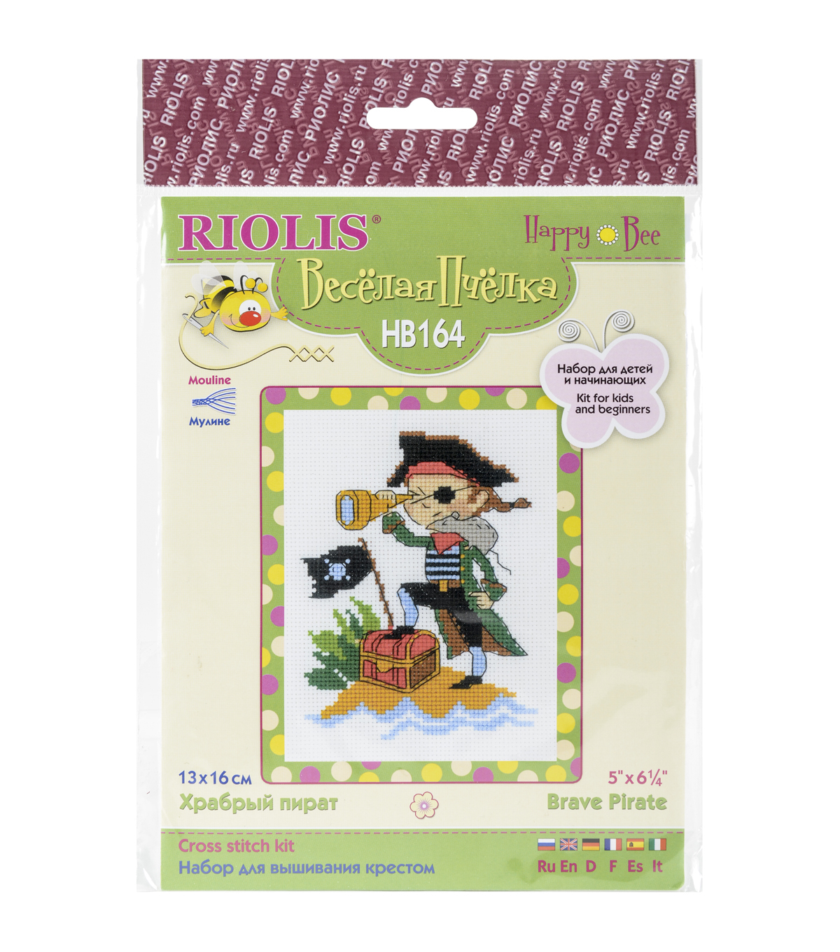 Riolis Counted Cross Stitch Kit-Brave Pirate