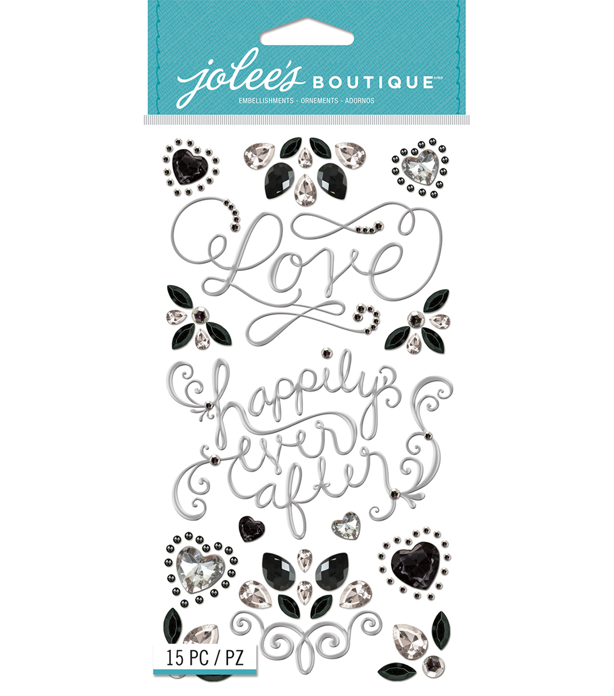 Jolee's Boutique Dimensional Stickers-Wedding Bling Icons