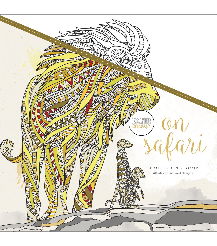 Kaisercraft KaiserColour Perfect Bound Coloring Book On Safari
