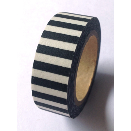 Love My Tapes Washi Tape Black And White Stripe